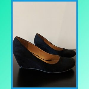 CL by Laundry Black Nima Wedge Pump